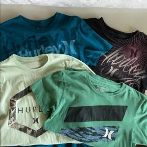 Hurley Lot of 4 t shirts in GUC size small